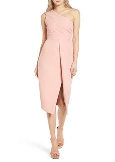 Keepsake the Label Lights Out Asymmetrical Midi Dress
