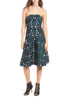 Keepsake the Label Night Dance Strapless Midi Dress