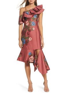 Keepsake the Label Night Lights Floral Asymmetrical Dress