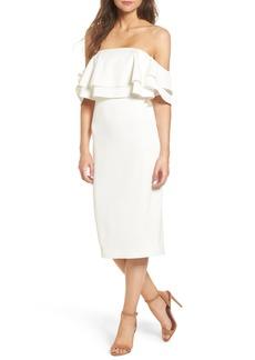 Keepsake the Label No Reason Off the Shoulder Sheath Dress