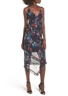 Keepsake the Label Ruffle Chiffon Midi Dress