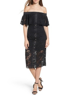 Keepsake the Label Star Crossed Off the Shoulder Lace Dress