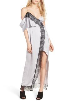 Keepsake the Label Stop Me Lace Trim Maxi Dress