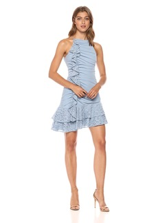 Keepsake The Label Women's All Night Halter Neck Mini Dress with Lace Ruffle Detail  L