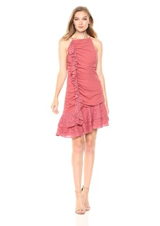 Keepsake The Label Women's All Night Halter Neck Mini Dress with Lace Ruffle Detail  M