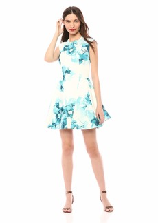 Keepsake The Label Women's Another World Cap Sleeve FIT & Flare Mini Party Dress  M