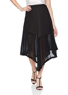Keepsake The Label Women's BE The One Pleated Chiffon Long Midi Skirt  L