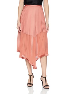 Keepsake The Label Women's BE The One Pleated Chiffon Long Midi Skirt  M