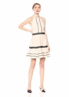 Keepsake The Label Women's Botanic Sleeveless Halter Fit & Flare Mini Dress  S