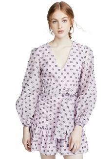 Keepsake The Label Women's Call Me Volume Long Sleeve Flounce Short Mini Dress Lilac spot M