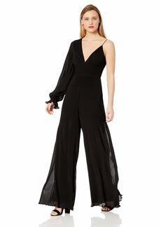 Keepsake The Label Women's Clarity One Shoulder Wide Leg Plungin Jumpsuit  xs
