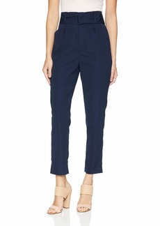Keepsake The Label Women's Daylight Highwaisted Belted Cropped Slim Trouser Pant  S