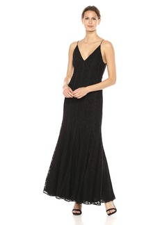 Keepsake The Label Women's Dreamers Lace Fitted Maxi Dress Sleeveless Gown  L