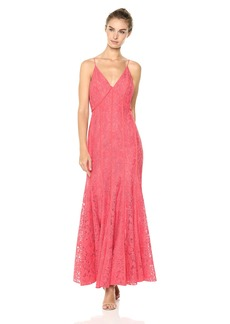 Keepsake The Label Women's Dreamers Lace Fitted Maxi Dress Sleeveless Gown  M