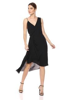 Keepsake The Label Women's DREAMLOVERS AYSMMETRIC Draped Sleeveless MIDI Dress  XL