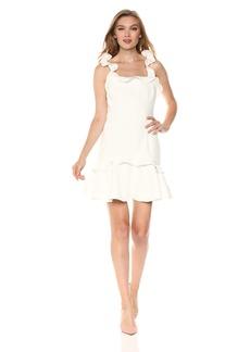Keepsake The Label Women's Escape Ruffle Sleeve Square Neck Mini Dress  L