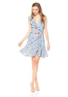 Keepsake The Label Women's Evolve Sleeveless Mini Wrap Dress with Ruffle Detail  S