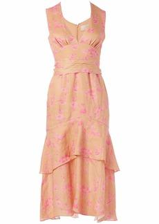 Keepsake The Label Women's Fallen Sleeveless Plunging V-Neck Belted Midi Dress  XS