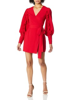 Keepsake The Label Women's Forget You Puff Sleeve Short Wrap Dress  S