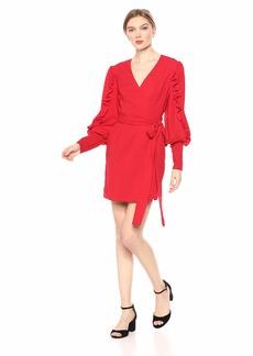 Keepsake The Label Women's Forget You Puff Sleeve Short Wrap Dress  XS