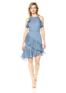 Keepsake The Label Women's Genesis Ruffle Asymmetric Mini Dress  XL