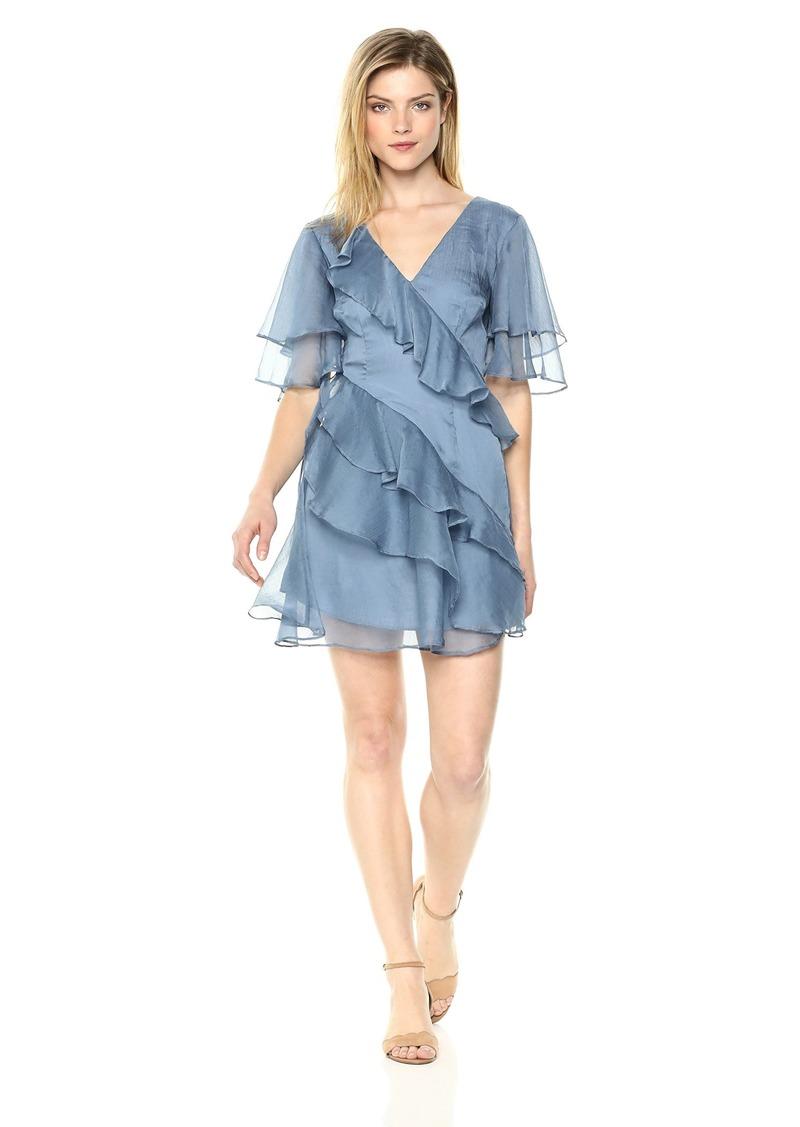 1ee874140d5 Keepsake The Label Women s Genesis Short Flutter Sleeve Ruffle Mini Dress M