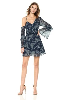 Keepsake The Label Women's Go It Paisley Print Asymmetrical Mini Dress
