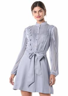 Keepsake The Label Women's Halo Strapless Cascading Ruffle Mermaid Midi Dress  S