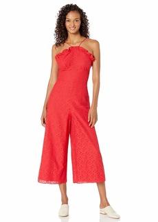 Keepsake The Label Women's Higher Sleeveless Halter Cropped LACE Jumpsuit