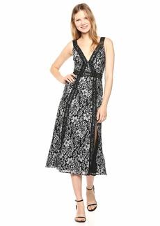Keepsake The Label Women's Holder Sleeveless LACE FIT & Flare MIDI Dress