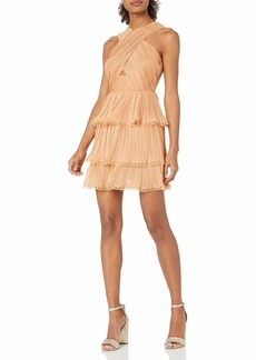 Keepsake The Label Women's Joyful Sleeveless X-Top Ruffle Mini Dress  M