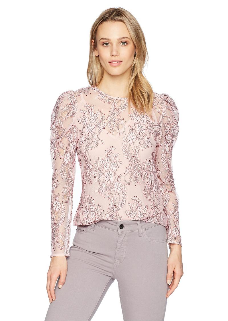 Keepsake The Label Women's Lace Longsleeve Illusion Top  L