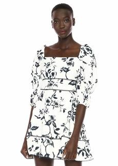 Keepsake The Label Women's Lovesick Puff Sleeve Short Mini Dress  M