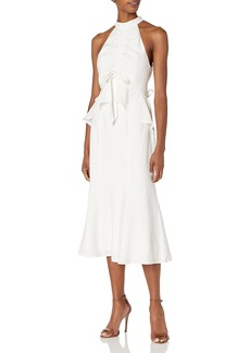 Keepsake The Label Women's Luminous Sleeveless Ruffle MIDI Dress  L