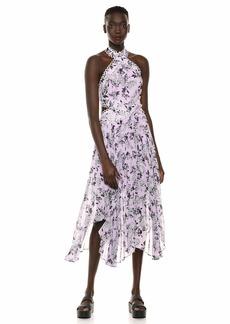 Keepsake The Label Women's Luscious Halter Pleated Fit & Flare Short Dress  XS