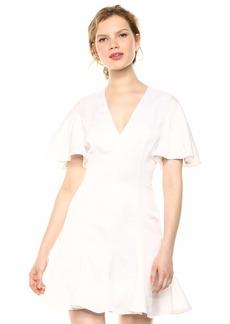 Keepsake The Label Women's Magnetic Sleeve FIT & Flare Short Mini Dress  M