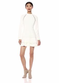 Keepsake The Label Women's Mirrors Longsleeve Ruffle Hem Flared Mini Dress  L