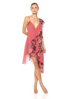 Keepsake The Label Women's Night Lights Floral Print Asymmetrical Dress