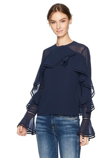 Keepsake The Label Women's Night Lights Ruffle Long Sleeve Top