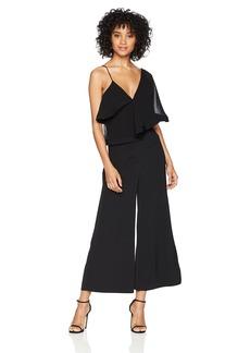 Keepsake The Label Women's No Love One Shoulder Flutter Sleeve Cropped Jumpsuit  XS