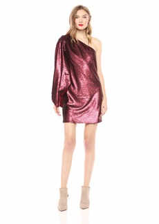 Keepsake The Label Women's NO Signs ONE Shoulder Sequin Mini Dress  L