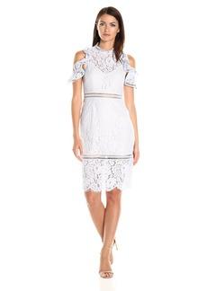 Keepsake The Label Women's Oblivion Lace Midi Dress  XL
