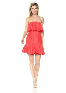 Keepsake The Label Women's Radar Strapless Ruffle Mini Party Dress  M