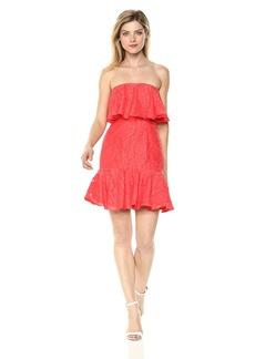Keepsake The Label Women's Radar Strapless Ruffle Mini Party Dress pop red S