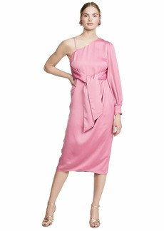 Keepsake The Label Women's Resotre One Shoulder Midi Dress pop Pink L