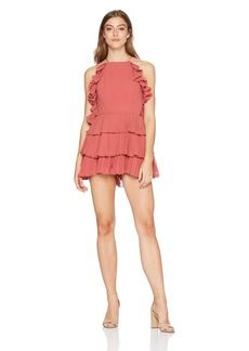 Keepsake The Label Women's Say Something Sleeveless Romper Playsuit Mineral red S