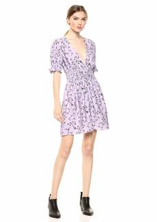 Keepsake The Label Women's Secure Puff Sleeve Floral Short Mini Dress Lilac m