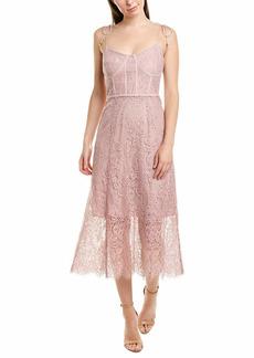 Keepsake The Label Women's Sense Sleeveless LACE Bustier Seam FIT & Flare Dress  M