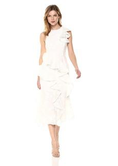 Keepsake The Label Women's Shine Ruffle Midi Dress  L