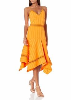 Keepsake The Label Women's Sleeveless A-line Arrows V-Neck Midi Dress  S